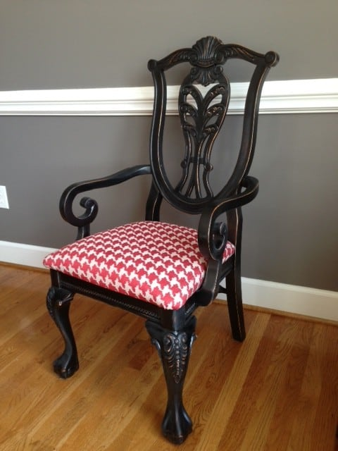 Spray Painted dining chair