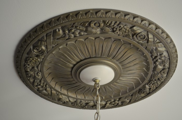 Chandelier Makeover and Medallion