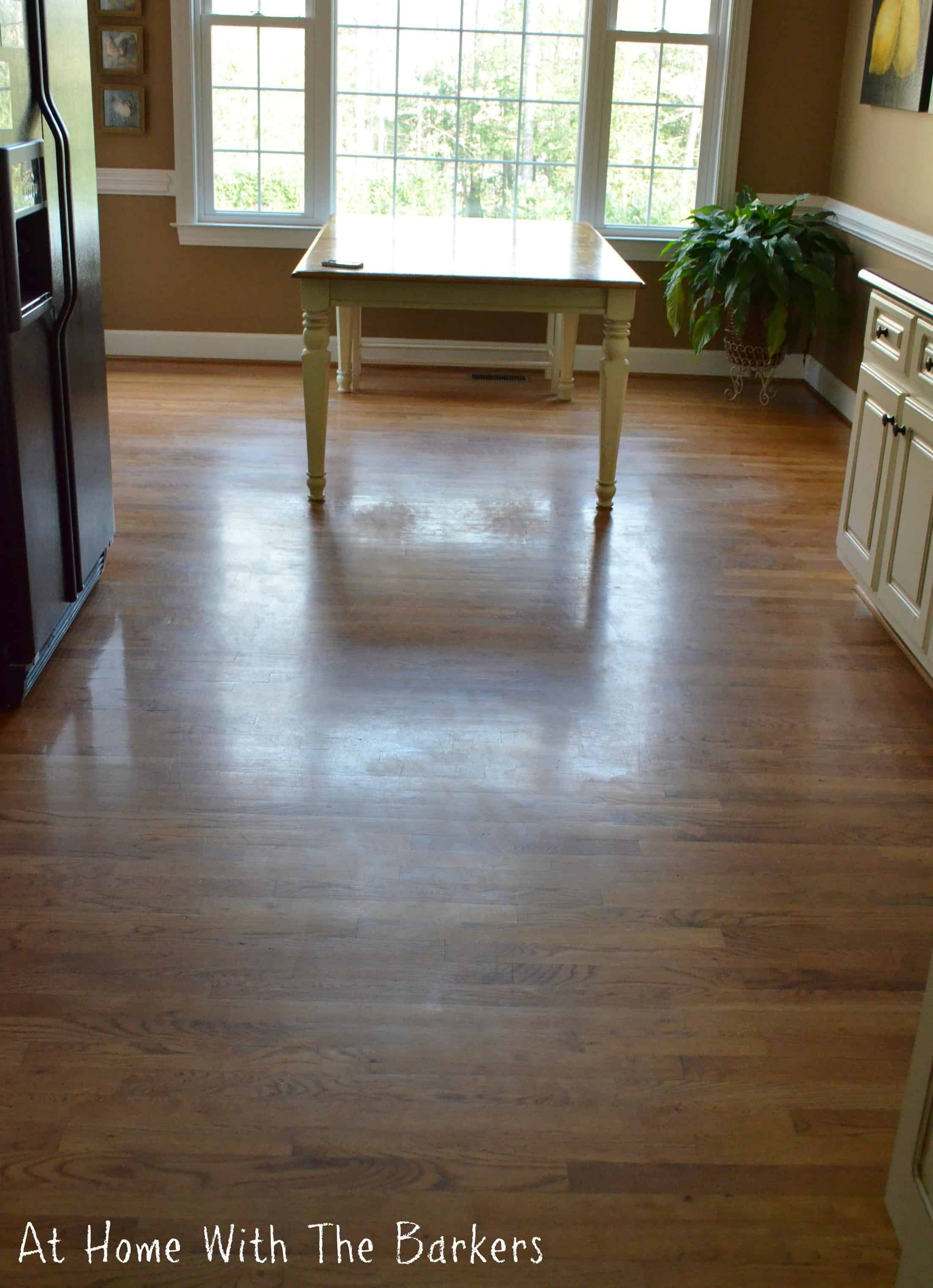 Cleaning dull hardwood floors at home with the barkers for Hardwood floors not shiny