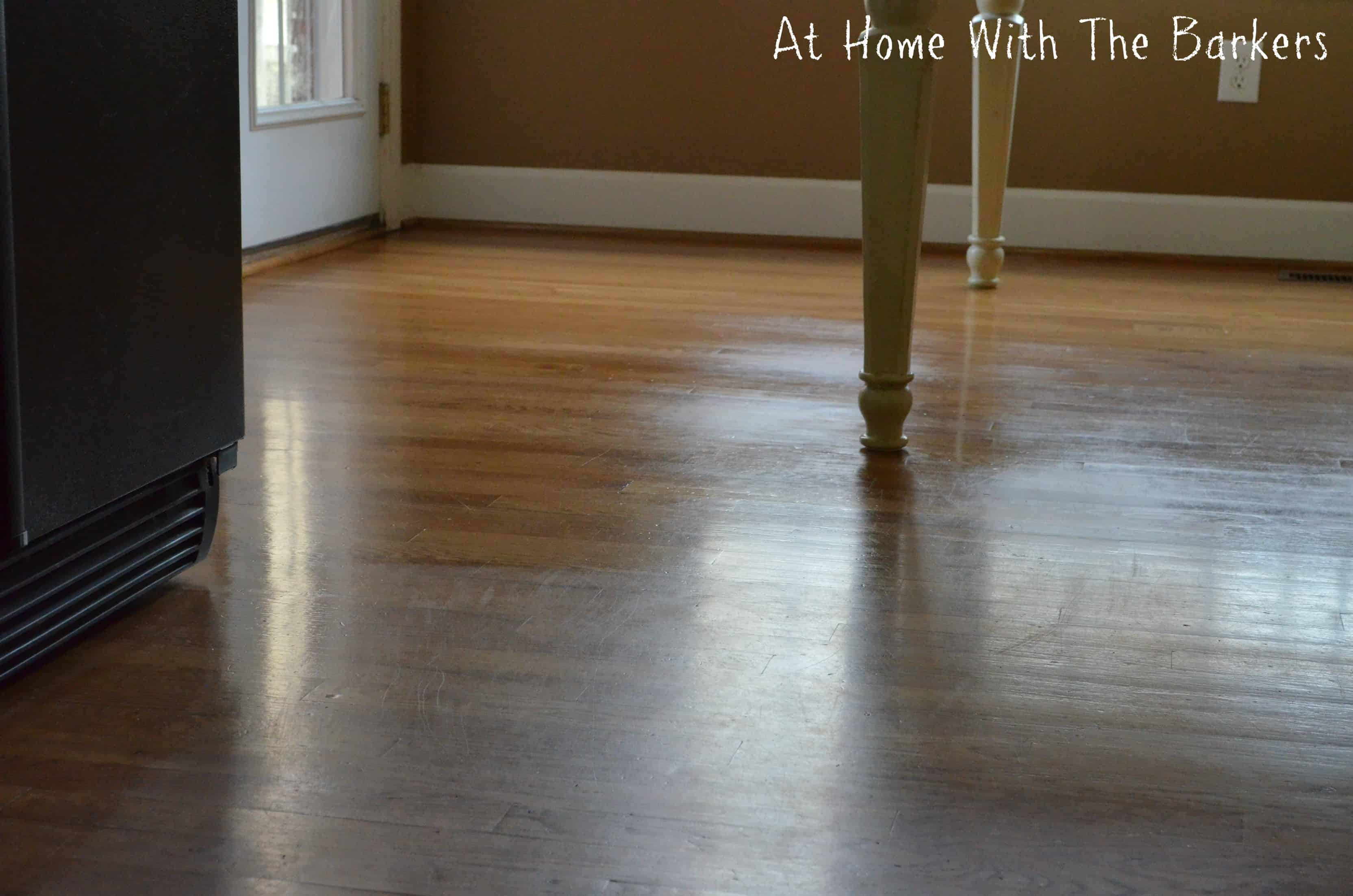 Before And After Hardwood Floors At Home With The Barkers