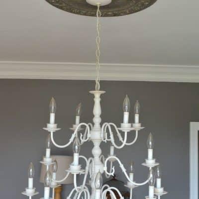 Chandelier Before new light bulbs