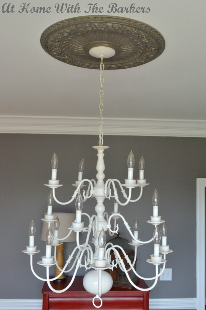 Chandelier After Spray Painting