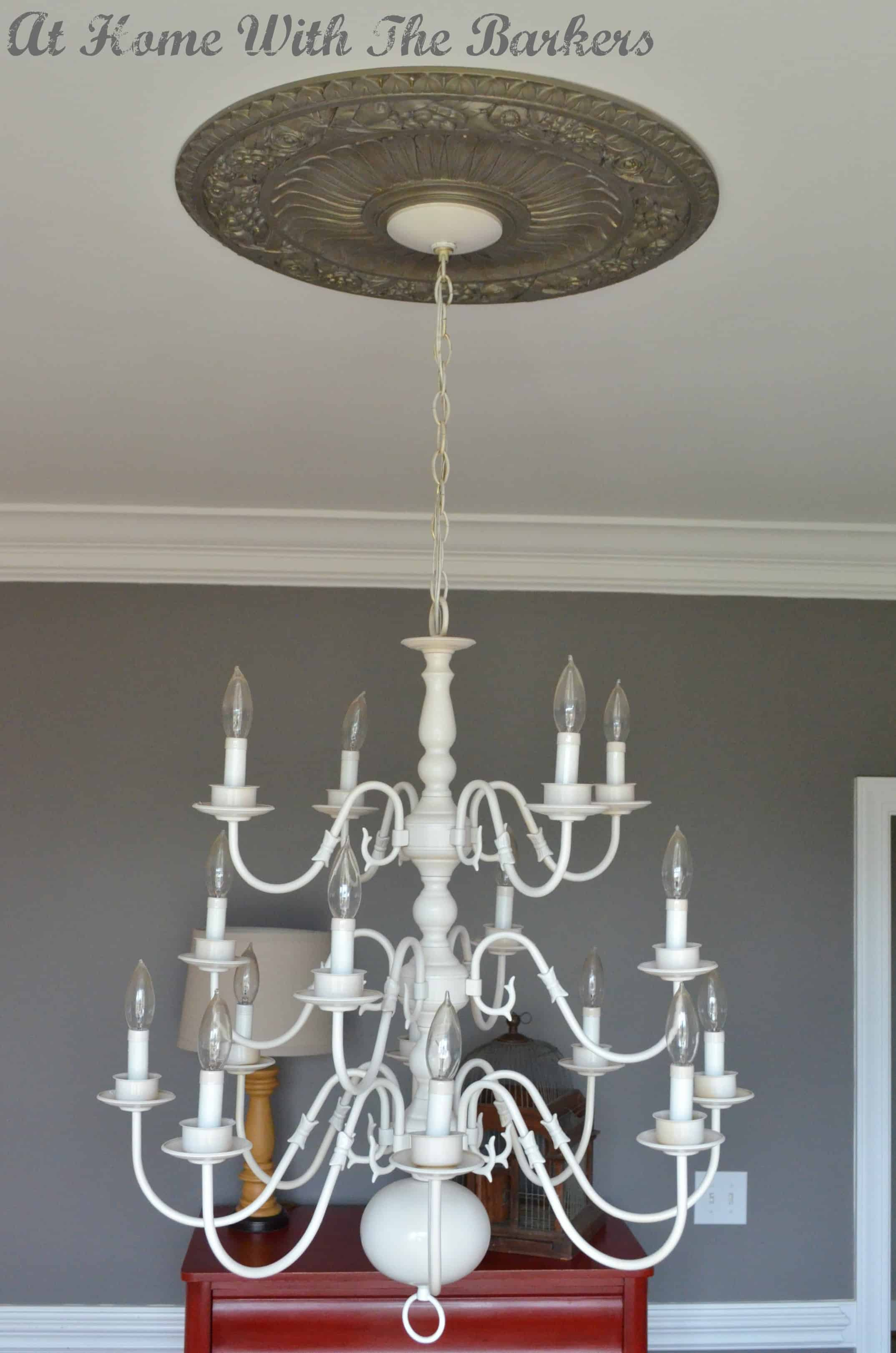 Chandelier Makeover At Home with The Barkers