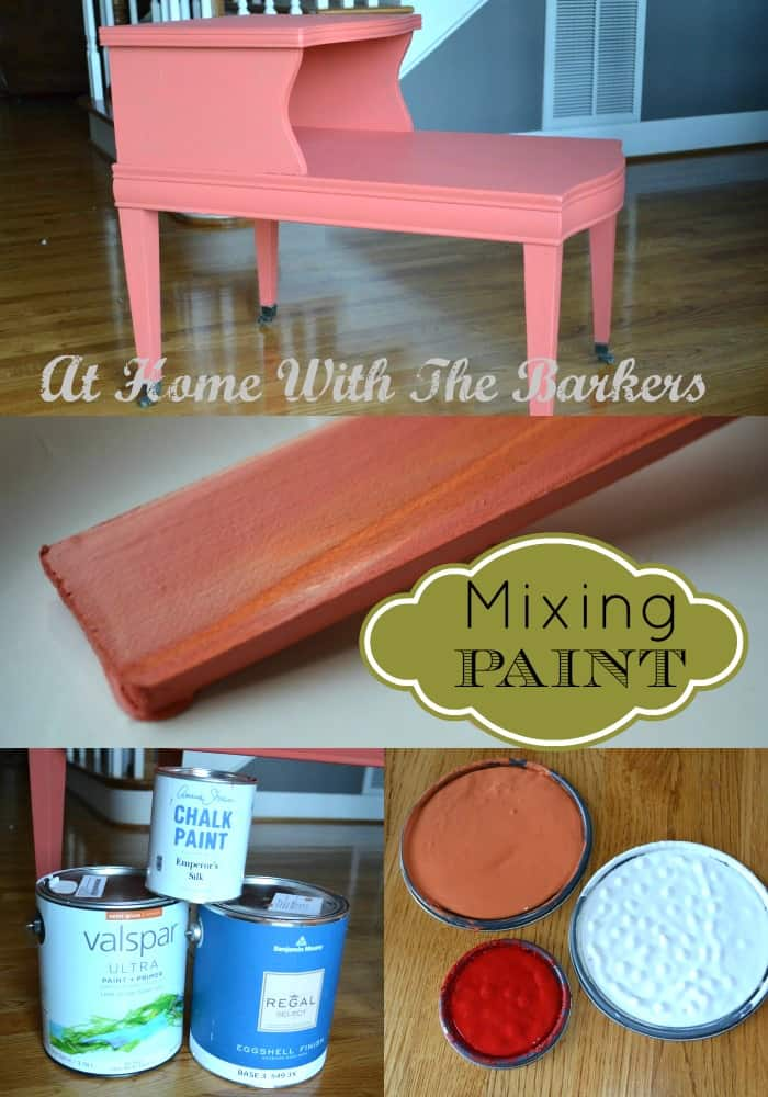 Mixing you own paint color-At Home with The Barkers