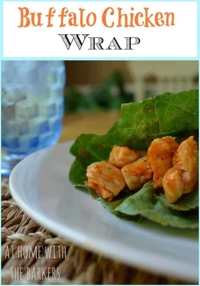 Buffalo Chicken Wrap - At Home with The Barkers