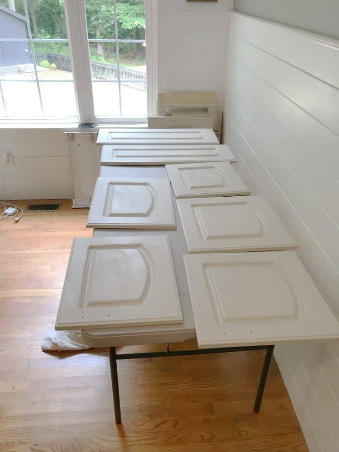 painted cabinets prep work