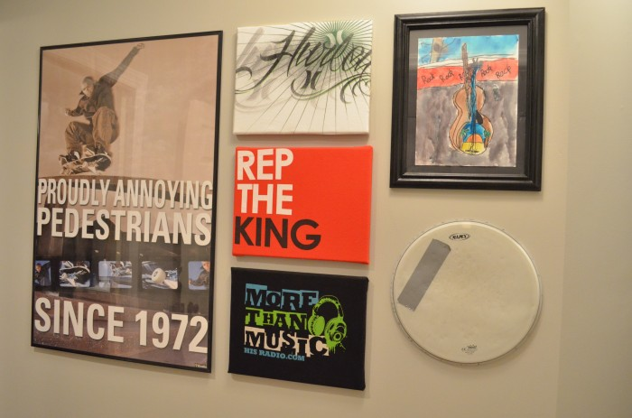 Gallery Wall with Custom Art
