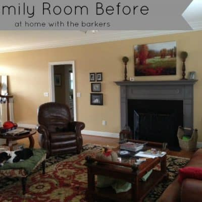 Family Room Before {Paint makes a BIG difference}