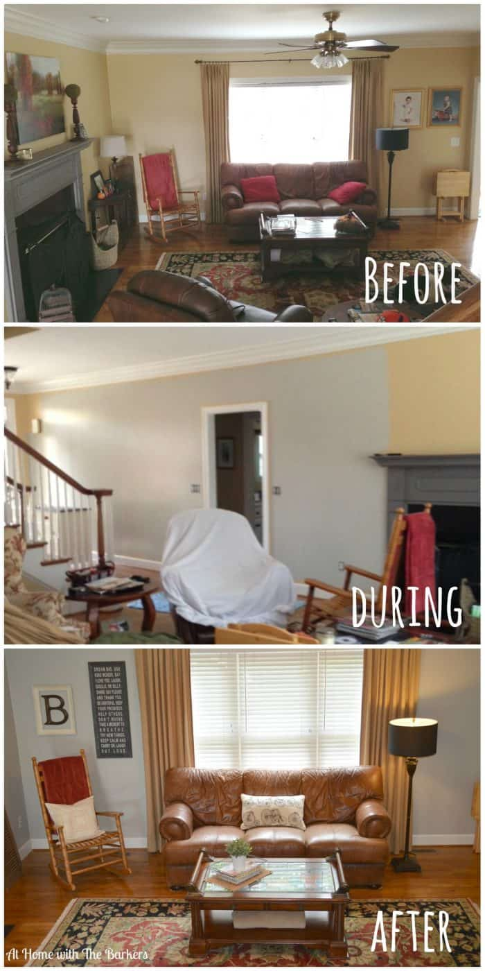 Family Room Before-During-After