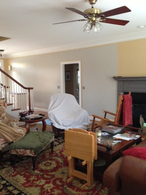 Family Room During Paint