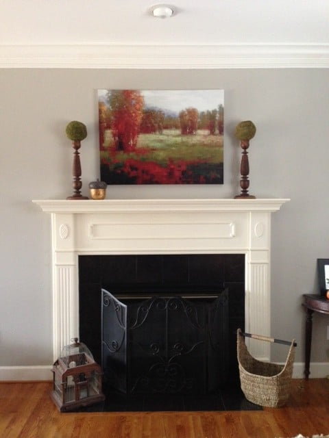Family Room Mantel White