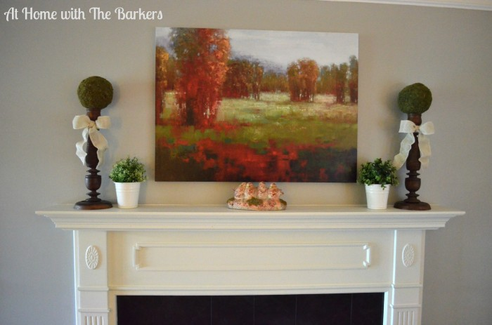 Family Room Mantle-Family Room Tour -At Home with The Barkers