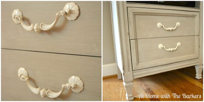 Family Room Painted TV Cabinet-Family Room Tour -At Home with The Barkers