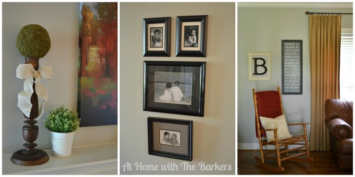 Family Room Walls and Accessories