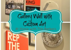 Gallery Wall with Custom Art