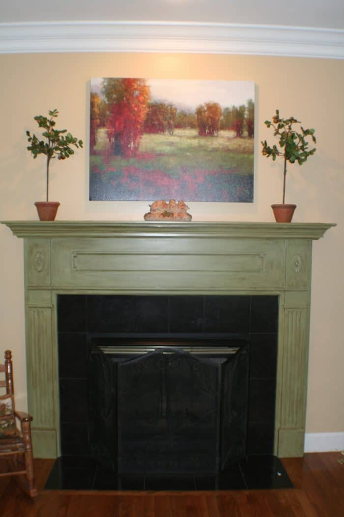 The Mantel Painted Green