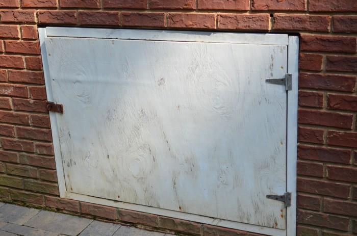 Crawl Space Door Before