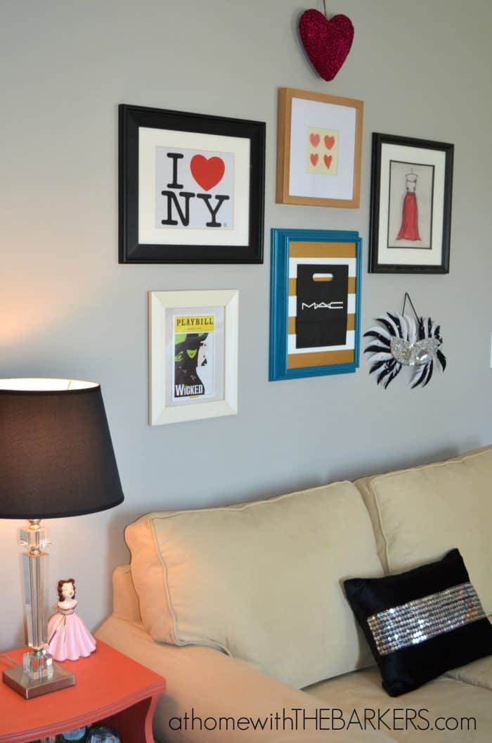 Teen Girl Bedroom Makeover-Gallery Wall