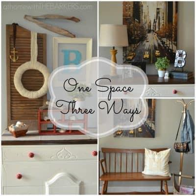 One Space Three Ways {a redesign challenge}