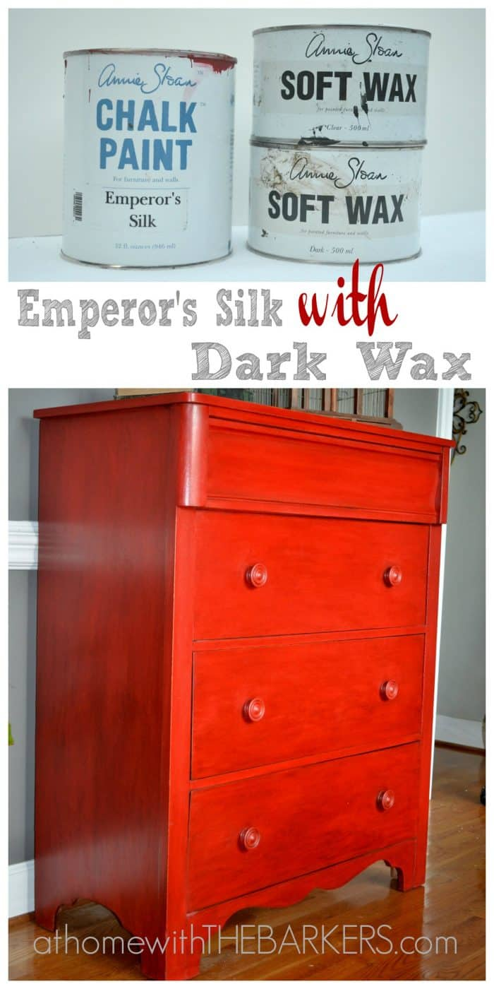Painting with Annie Sloan Chalk Paint Emperors Silk #athomewiththebarkers