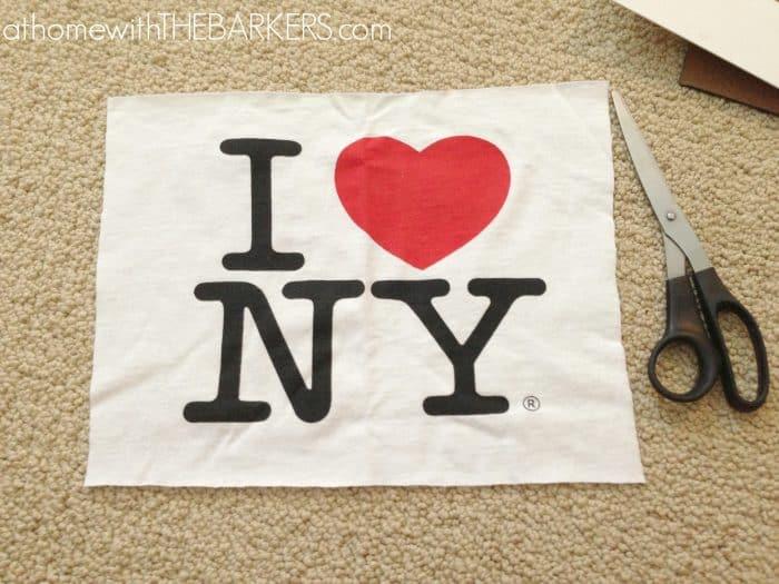 I heart NY Thsirt cut out