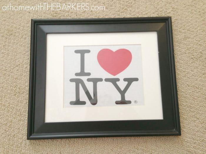 I heart NY framed tshirt
