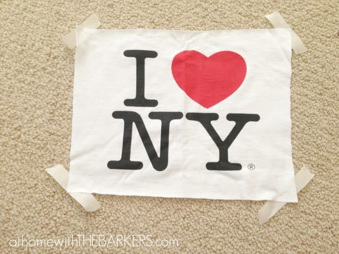 I heart NY tshirt and tape