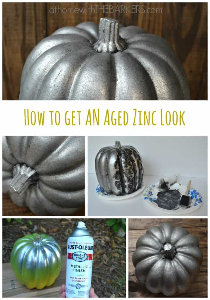 How to Get an Aged Zinc Look with spray paint