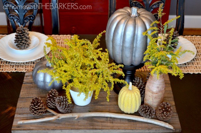 Fall Tour Dining Table Zinc and Yellow