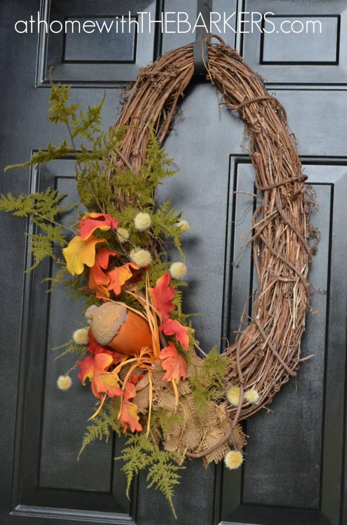 15 fall wreath ideas at home with the barkers Fall autumn door wreaths