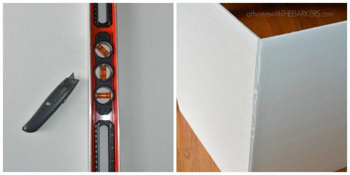 Framed Burlap Foam Board