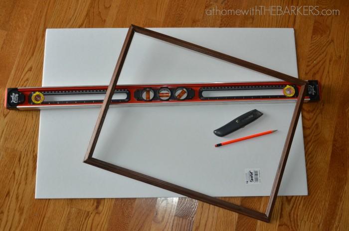 Framed Burlap Supplies