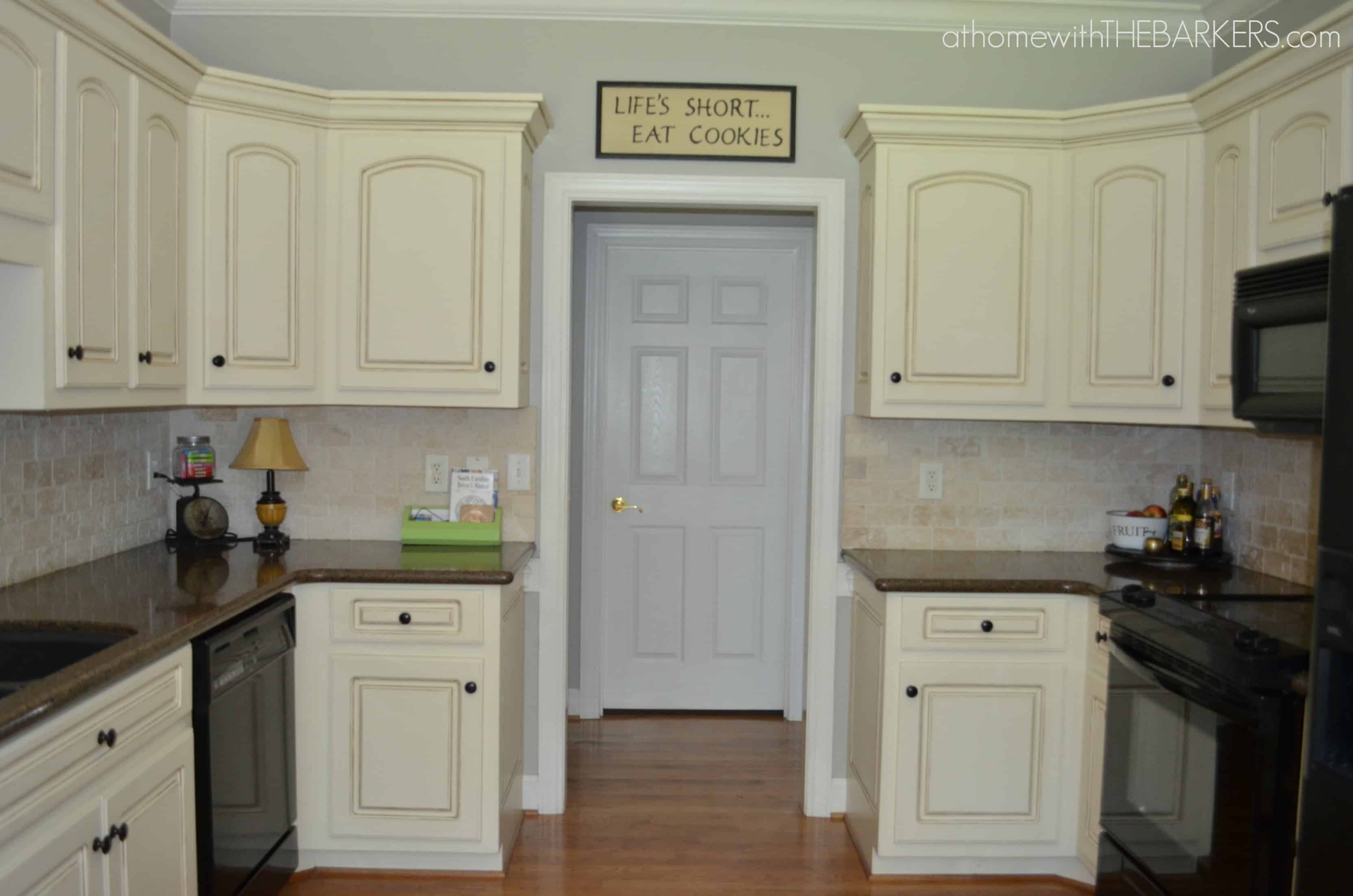 kitchen makeover part 1 the paint at home with the barkers - Oak Kitchen Cabinet Makeover
