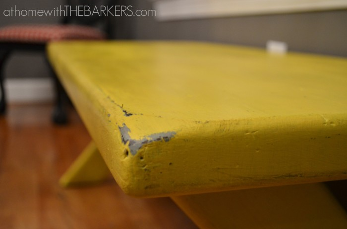 31 Days Bench Distressed makeover
