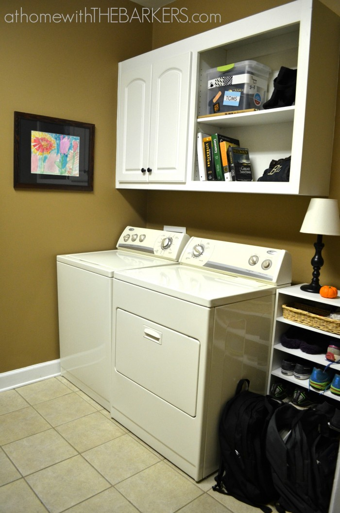 31 Days of organizing and Cleaning Laundry Room