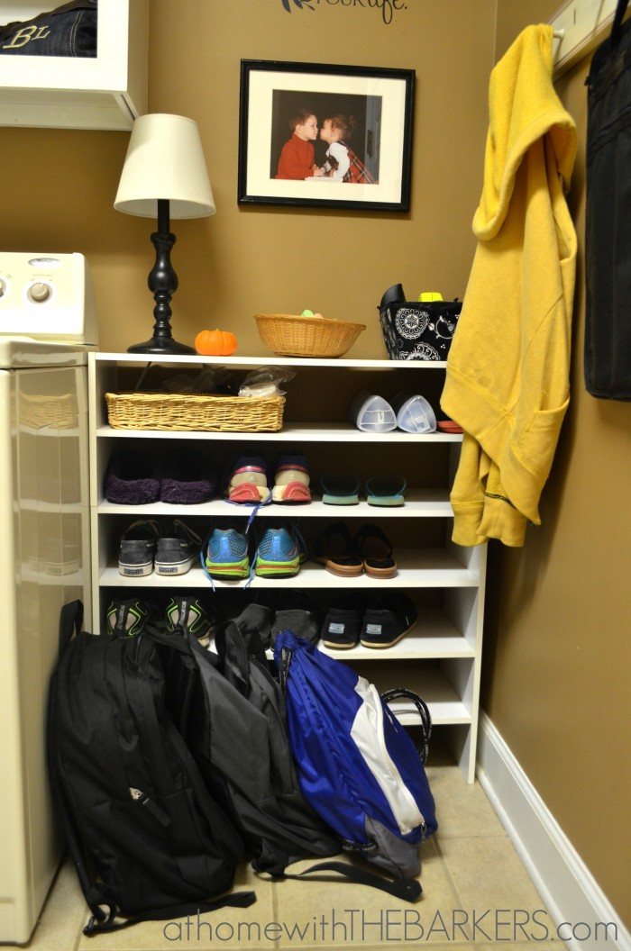 31 Days Organizing Shoes and Backpacks