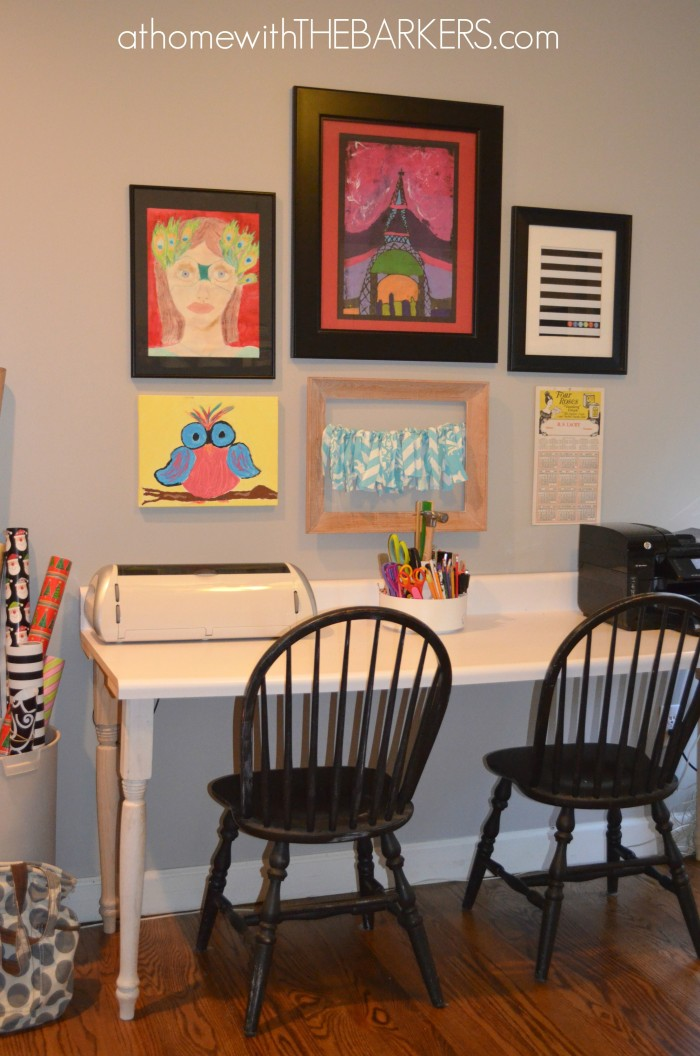 31 Days The Craft Room Art Wall