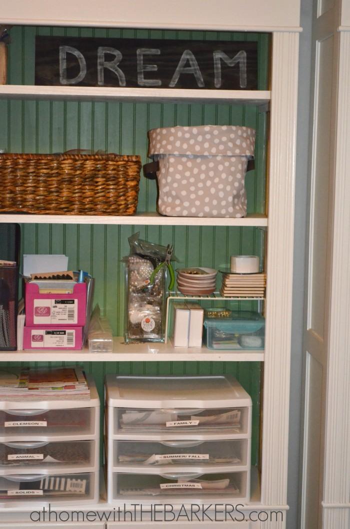 31 Days The Craft Room Shelves