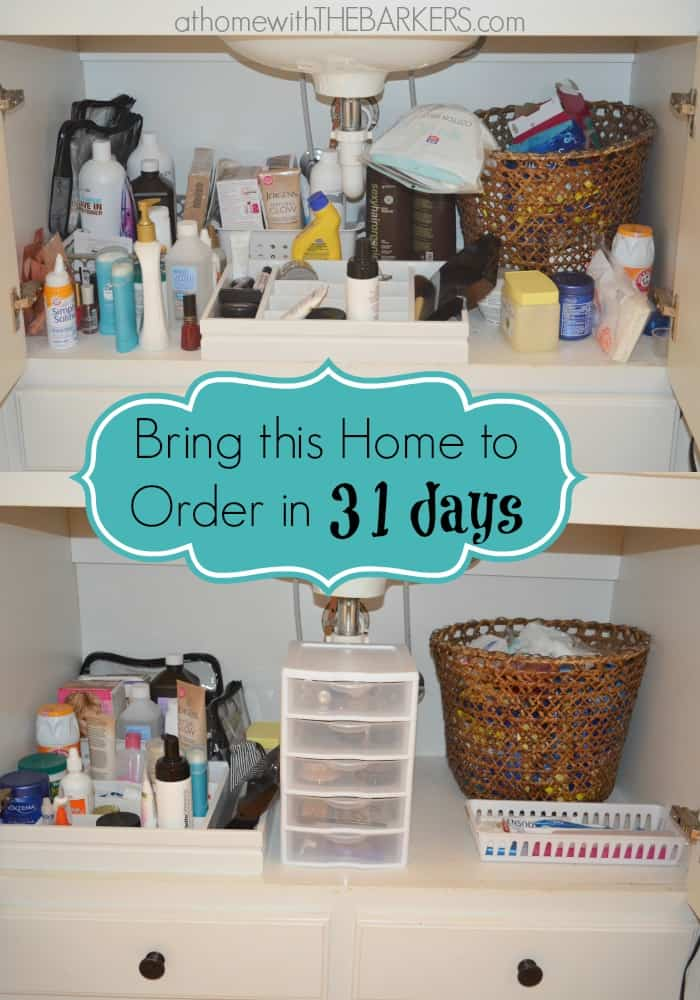 organize under bathroom sink 31 days the bathroom sink at home with the barkers 19809