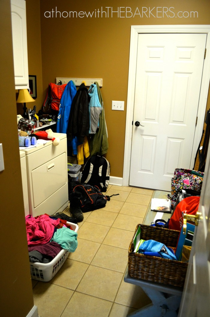 31 days Laundry Room Cluttered