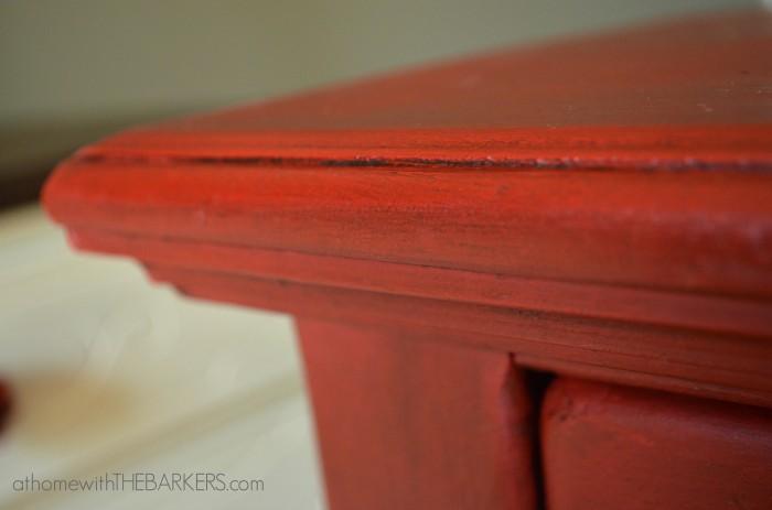 Annie Sloan Painted Cabinet Details