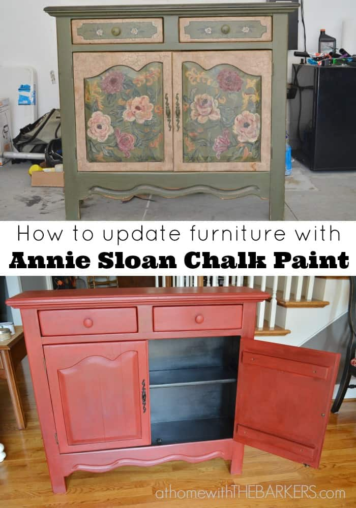 Annie Sloan Painted Cabinet Makeover