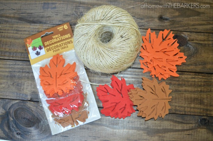 Dollar Tree Felt Leaves