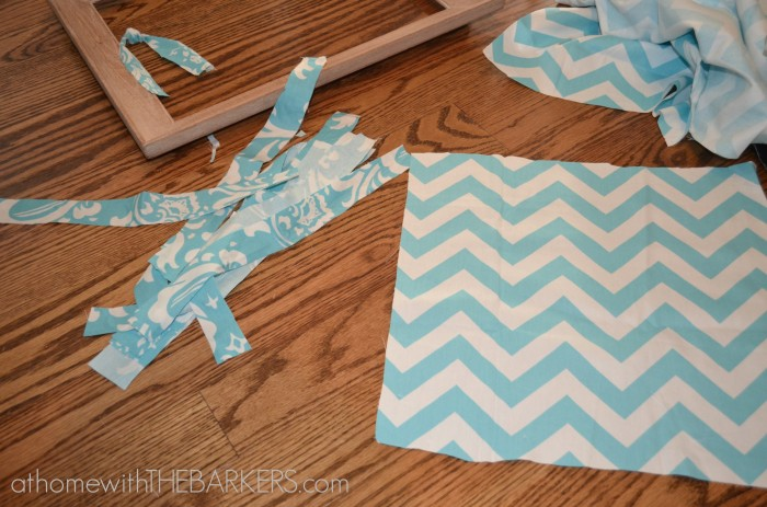 Framed Fabric Garland Stripes