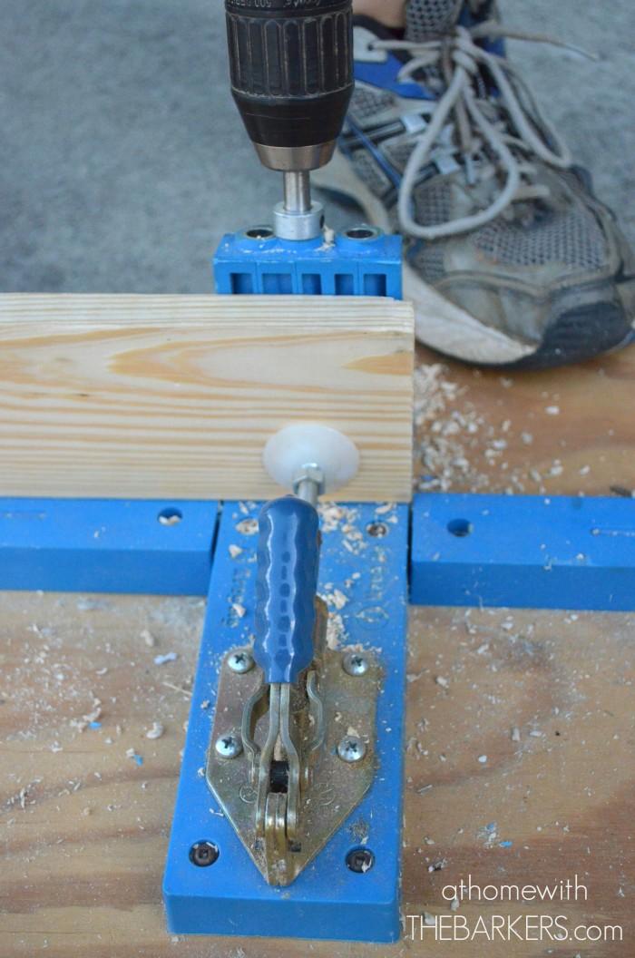 Board and Batten Shutters-Kreg Tool Pocket hole jig