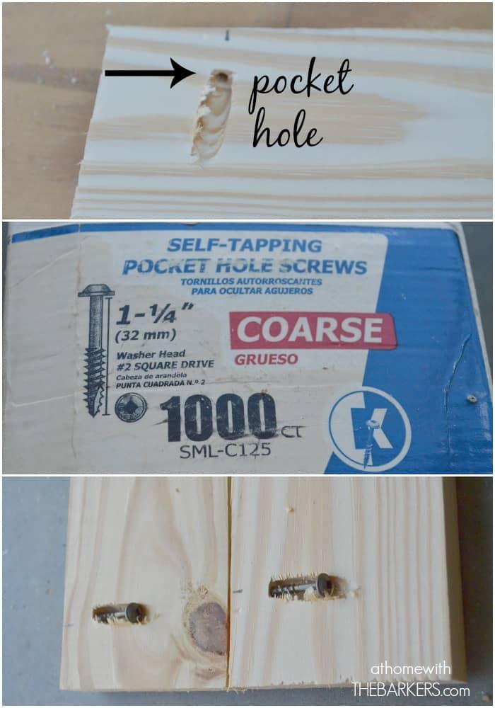 Shutters-pocket hole