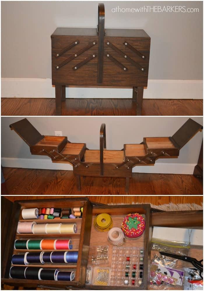 Singer Accordian Sewing Box