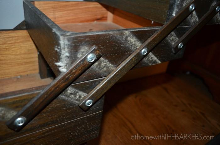 Singer Sewing box detail