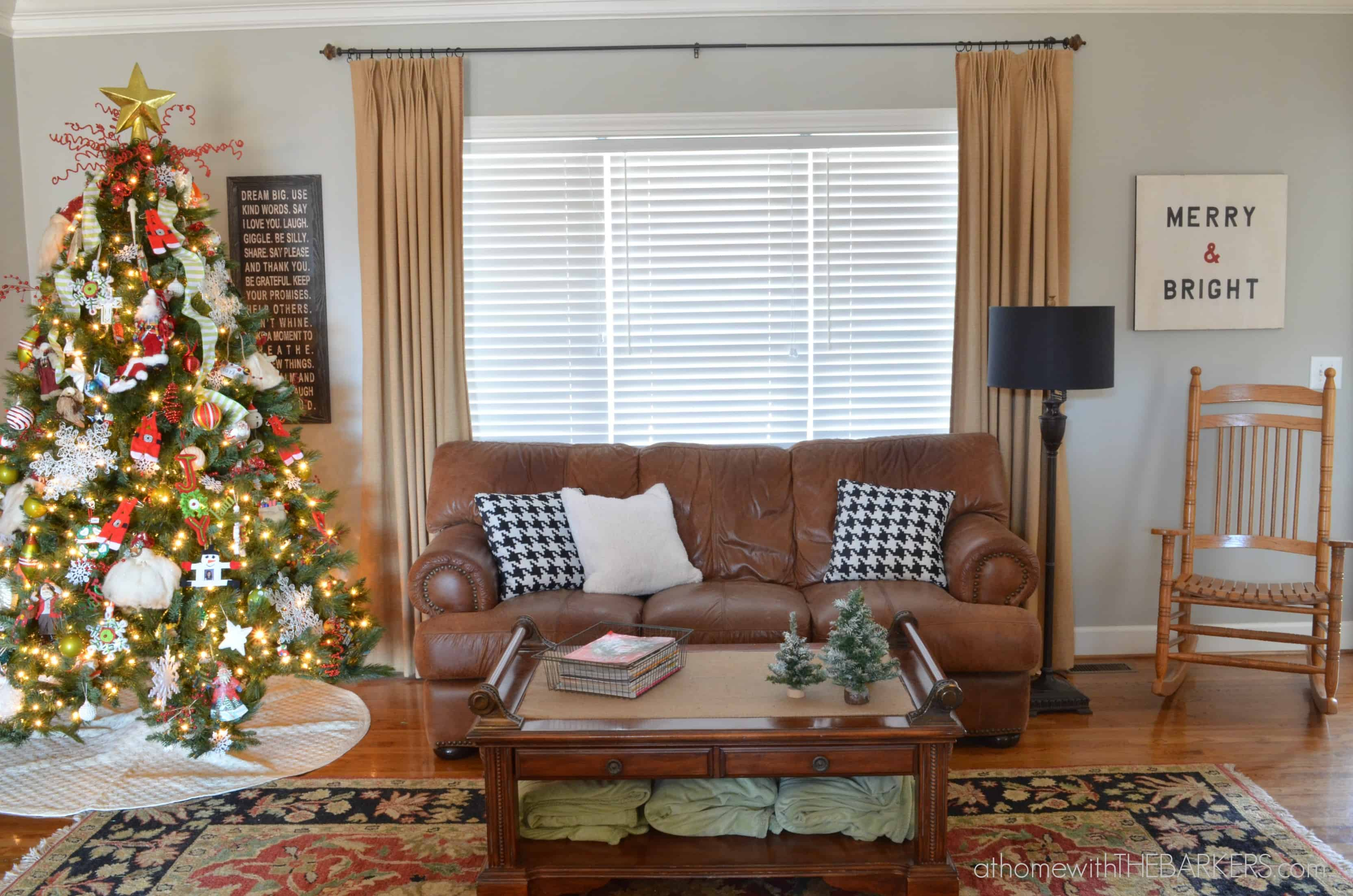 Christmas Tour Living Room At Home with The Barkers