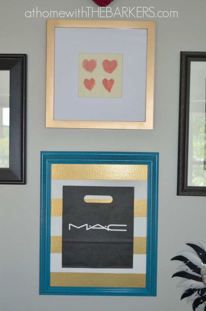 Shopping Bag Art on the wall